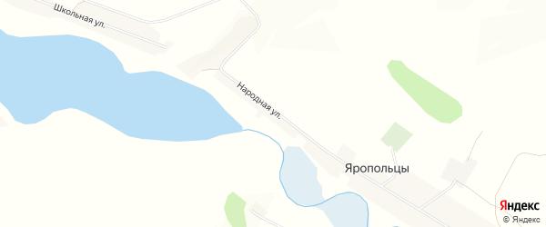 Карта села Яропольцы в Белгородской области с улицами и номерами домов
