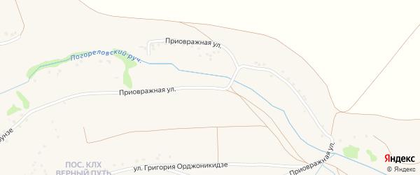 Приовражная улица на карте Роговатого села с номерами домов