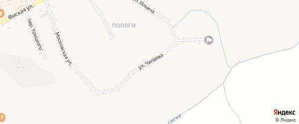 Улица Чапаева на карте Бирюча с номерами домов