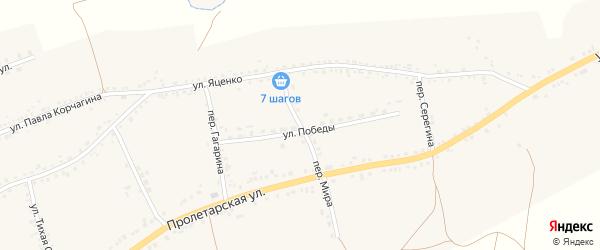 Переулок Мира на карте села Засосны с номерами домов