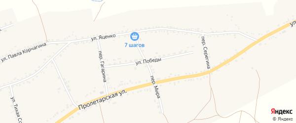 Улица Победы на карте села Засосны с номерами домов