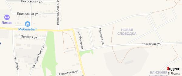 Дубовская улица на карте Бирюча с номерами домов