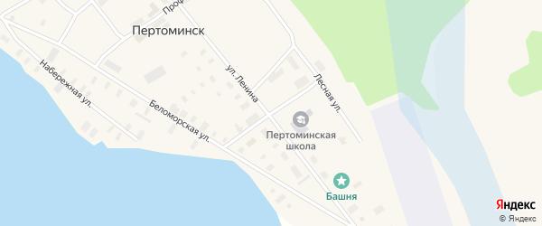 Комсомольский переулок на карте поселка Пертоминска с номерами домов