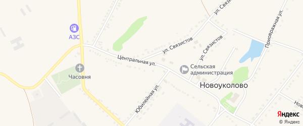 Центральная улица на карте села Новоуколово с номерами домов