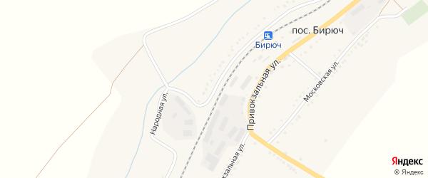 Народная улица на карте поселка Бирюч (Коломыцевское с/п) с номерами домов