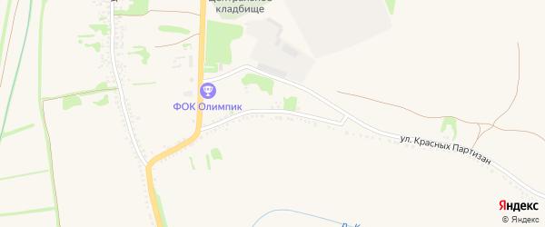 Улица Калинина на карте села Никитовки с номерами домов