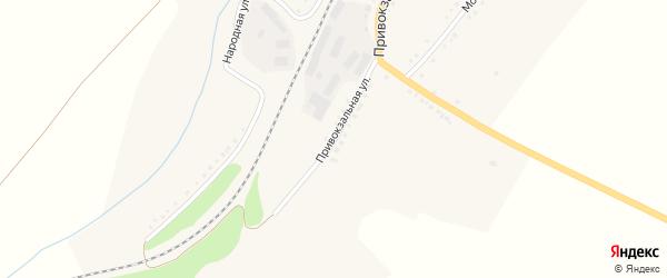 Привокзальная улица на карте поселка Бирюч (Коломыцевское с/п) с номерами домов