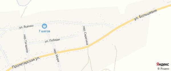 Переулок Серегина на карте села Засосны с номерами домов