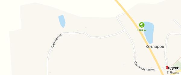 Садовая улица на карте хутора Котлярова с номерами домов