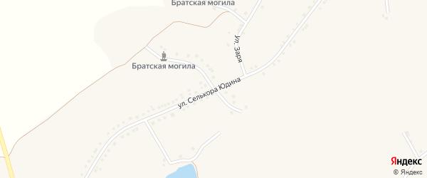 Улица им Селькора Юдина на карте села Новоуколово с номерами домов