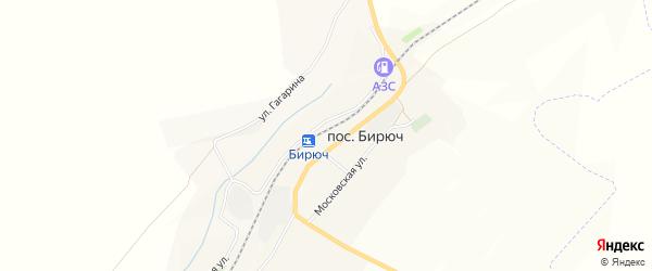 Карта поселка Бирюч (Коломыцевское с/п) в Белгородской области с улицами и номерами домов