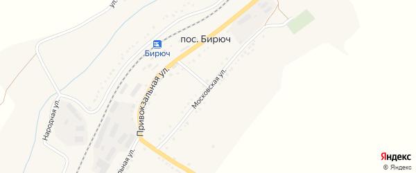 Московская улица на карте поселка Бирюч (Коломыцевское с/п) с номерами домов