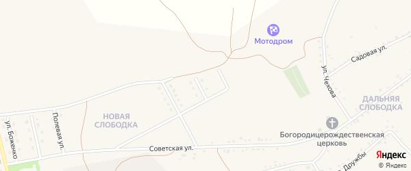 Широкая улица на карте Бирюча с номерами домов