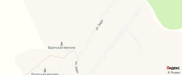 Улица Заря на карте села Новоуколово с номерами домов