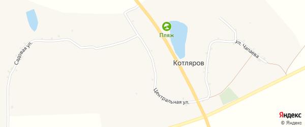 Центральная улица на карте хутора Котлярова с номерами домов
