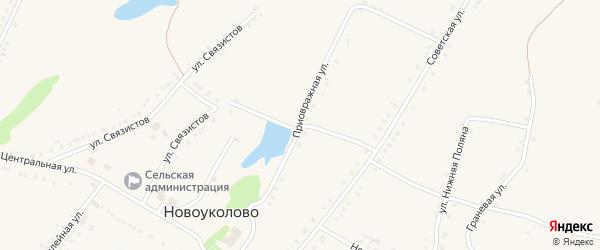 Приовражная улица на карте села Староуколово с номерами домов