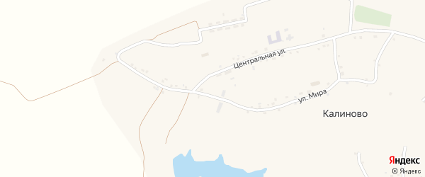 Октябрьская улица на карте села Калиново с номерами домов