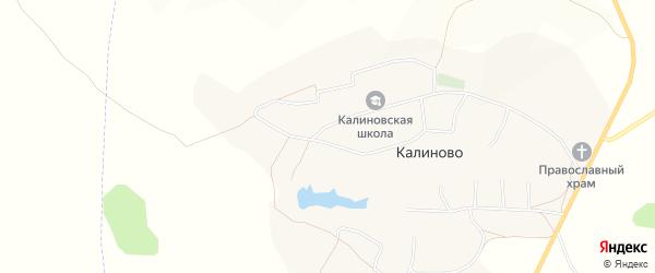 Карта села Калиново в Белгородской области с улицами и номерами домов