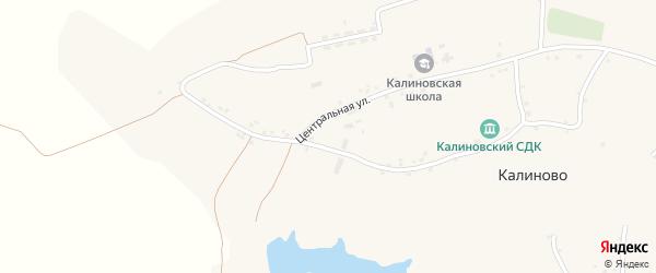 Заречная улица на карте села Калиново с номерами домов