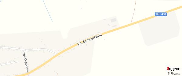 Улица Большевик на карте села Засосны с номерами домов