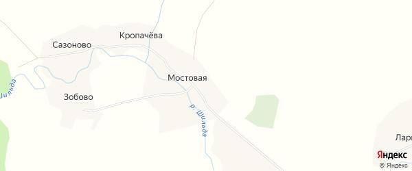 Карта деревни Кропачева в Архангельской области с улицами и номерами домов