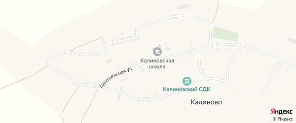 Центральная улица на карте села Калиново с номерами домов