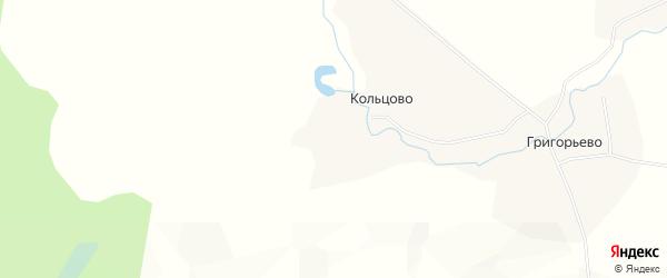 Карта деревни Кольцово в Архангельской области с улицами и номерами домов