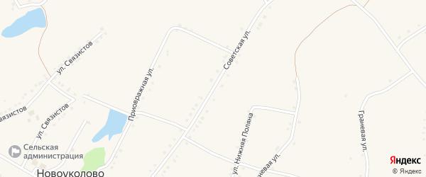 Советская улица на карте села Новоуколово с номерами домов