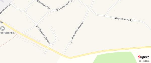 Улица Верхняя Поляна на карте села Новоуколово с номерами домов