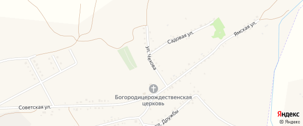 Улица Чехова на карте Бирюча с номерами домов