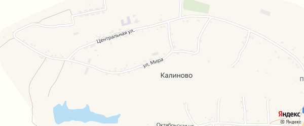 Улица Мира на карте села Калиново с номерами домов