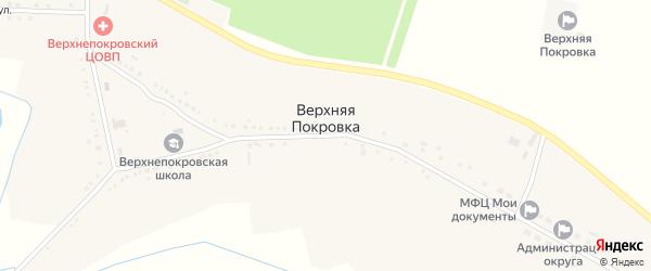 Садовая улица на карте села Верхней Покровки с номерами домов
