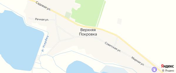 Карта села Верхней Покровки в Белгородской области с улицами и номерами домов