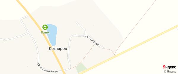 Улица Чапаева на карте хутора Котлярова с номерами домов