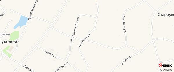 Граневая улица на карте села Новоуколово с номерами домов