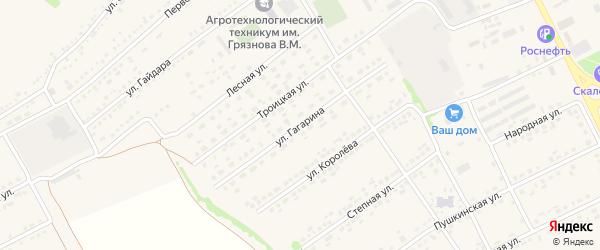 Улица Гагарина на карте поселка Вейделевки с номерами домов