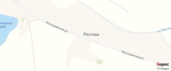 Россошанская улица на карте хутора Россоши с номерами домов