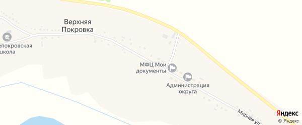 Советская улица на карте села Верхней Покровки с номерами домов