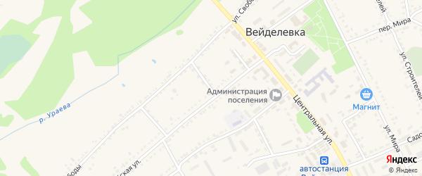 Первомайский переулок на карте поселка Вейделевки с номерами домов