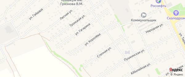 Улица Королева на карте поселка Вейделевки с номерами домов