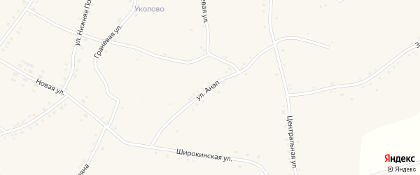 Улица Анап на карте села Староуколово с номерами домов