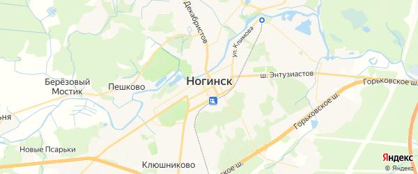 Карта Ногинска с районами, улицами и номерами домов