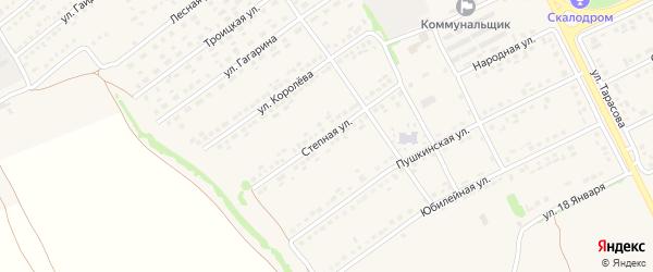 Степная улица на карте поселка Вейделевки с номерами домов