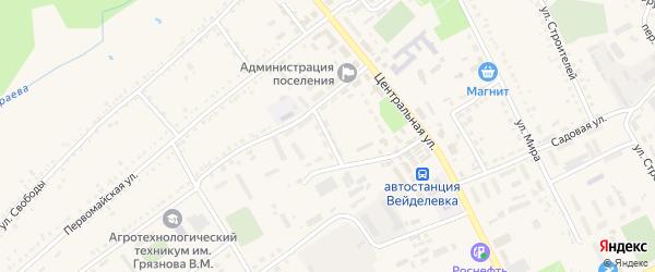 Переулок Гайдара на карте поселка Вейделевки с номерами домов