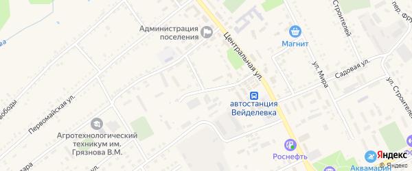 Молодежная улица на карте поселка Вейделевки с номерами домов