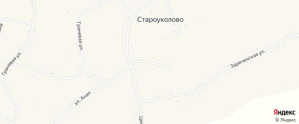 1-й Центральный переулок на карте села Староуколово с номерами домов