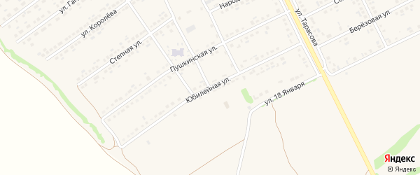 Юбилейная улица на карте поселка Вейделевки с номерами домов