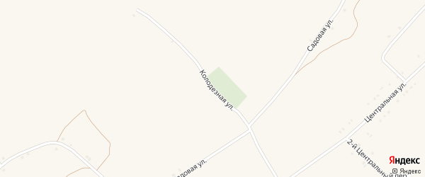 Колодезная улица на карте села Староуколово с номерами домов