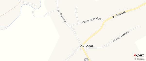 Улица Горького на карте села Хуторцы с номерами домов