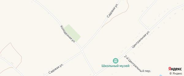 Садовая улица на карте села Староуколово с номерами домов